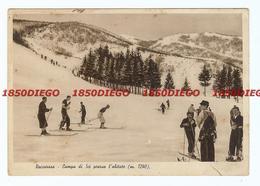 ROCCARASO - CAMPO DA SCI PRESSO L'ABITATO F/GRANDE VIAGGIATA 1937 ANIMATA - L'Aquila