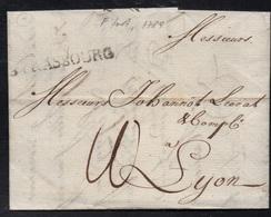 STRASBOURG - ALSACE / 1789 LAC LETTRE ACHEMINEE DE FRANCFORT A DESTINATION DE LYON (ref 6402) - Alsace-Lorraine