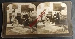"""Photo Stéréoscopique. Couple, Piano, Musique. """"Atmosphère"""" - Photos Stéréoscopiques"""