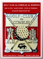 SUPER PIN'S GOLF-VILLE : Le GOLF CLUB De COMBLES Dans Le Grand-Est, Département 55, émail Base Noire + Glaçage 1,8X1,6cm - Golf