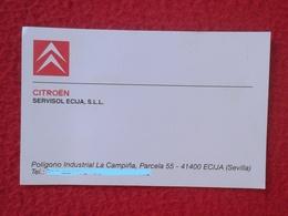SPAIN TARJETA DE VISITA O SIMIL VISIT CARD CITROËN CITROEN AÑOS 90 CAR VOITURE AUTO COCHE MARCA VER FOTOS Y DESCRIPCIÓN - Tarjetas De Visita