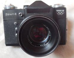 Appareil Photo ZENIT-E  Jeux Olympique Moscou 1980,objectif Hélios 2/58...RARE Jeu Boycotté Par Plus De 50 Nations - Appareils Photo