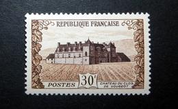 FRANCE 1951 N°913 ** (CHÂTEAU DU CLOS DE VOUGEOT. 30F BRUN ET VIOLET-BRUN) - Unused Stamps