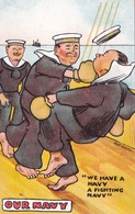 HUMOR UMORISTICHE CARICATURE OUR NAVY WE HAVE A NAVY A FIGHTING NAVY   ORIGINALE 100% - Humor