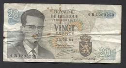 België Belgique Belgium 15 06 1964 -  20 Francs Atomium Baudouin. 4 B 1293250 - [ 6] Treasury