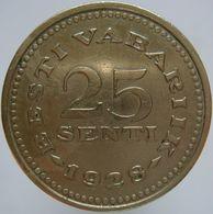 Estonia 25 Senti 1928 XF - Estonia