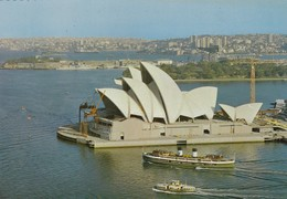 Postcard Sydney Opera House Under Construction Ferry In Foreground ? View From Pylon Lookout My Ref  B23587 - Sydney