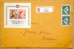 Schweiz Suisse Winterhilfe 1941: Block PJ 98I+99I Mi Block 6 Yv BF 6 R-Brief Mit O ZIZERS 9.XII.41 (Zu CHF 650.00) - Blocs & Feuillets