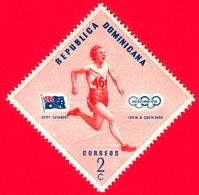 Nuovo - MNH - REP. DOMINICANA - 1957 - Vincitori Olimpici Melbourne 1956 - 100 M E 200 M - Betty Cuthbert, Australia - 2 - Repubblica Domenicana