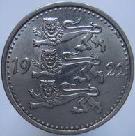 Estonia 1 Mark 1922 XF / UNC - Estonia