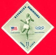 Nuovo - MNH - REP. DOMINICANA - 1957 - Vincitori Olimpici Melbourne 1956 - Atletica - Robert Morrow, USA - 11 - P. Aerea - Repubblica Domenicana