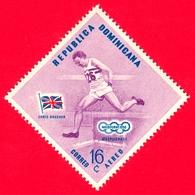 Nuovo - MNH - REP. DOMINICANA - 1957 - Vincitori Olimpici Melbourne 1956 - Corsa - Chris Brasher, England - 16 - P. Aere - Repubblica Domenicana