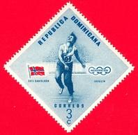 Nuovo - MNH - REP. DOMINICANA - 1957 - Vincitori Olimpici Melbourne 1956 - Lancio Del Giavellotto - Egil Danielsen, Norv - Repubblica Domenicana