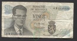 België Belgique Belgium 15 06 1964 -  20 Francs Atomium Baudouin. 4 B 2120920 - [ 6] Treasury