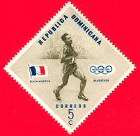 Nuovo - MNH - REP. DOMINICANA - 1957 - Vincitori Olimpici Melbourne 1956 - Maratona - Alain Mimoun, Francia - 5 - Repubblica Domenicana