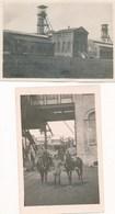 80) PICQUIGNY Ou Environs : 2 Photos Allemandes Juin 1916 - Mine - Chevalement - 1.WK - WW1 (Format 6 X 8 Cm) - Picquigny