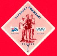 Nuovo - MNH - REP. DOMINICANA - 1957 - Vincitori Olimpici Melbourne 1956 - Marcia 50 Km - Norman Read, Nuova Zelanda - 7 - Repubblica Domenicana