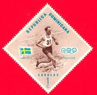 Nuovo - MNH - REP. DOMINICANA - 1957 - Vincitori Olimpici Melbourne 1956 - Pentatlon - Lars Hall, Svezia - 1 - Repubblica Domenicana