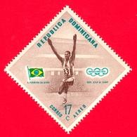 Nuovo - MNH - REP. DOMINICANA - 1957 - Vincitori Olimpici Melbourne 1956 - Salto In Lungo - A. Ferreira Da Silva, Brasil - Repubblica Domenicana
