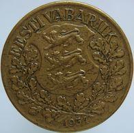 Estonia 1 Kroon 1934 XF / UNC - Estonia