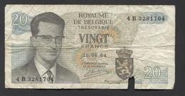 België Belgique Belgium 15 06 1964 -  20 Francs Atomium Baudouin. 4 B 3281704 - [ 6] Treasury