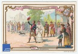 Jolie Chromo Compagnie Liebig Mariage écossais Robe Kilt Ecosse Folklore Cornemuse Scotish Pipe Scotland Wedding A5-82 - Liebig