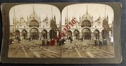 Photo Stéréoscopique. Venise (Italie) La Belle Eglise De  St. Marc. -  Venezia. La Bella  Chiesa Di San Marco. 2 Scans. - Photos Stéréoscopiques