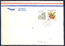 K588- Postal Used Cover. Posted From Czech Republic To Pakistan. Plants. Fish. - Other