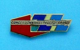 1 PIN'S //  ** CONCESSIONNAIRES PEUGEOT FRANCE ** . (Démons & Merveilles) - Peugeot
