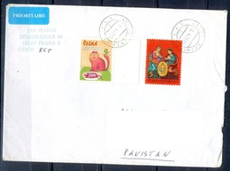 K591- Postal Used Cover. Posted From Czech Republic To Pakistan.  Animals. Cat. Rat. - Czech Republic