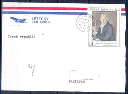 K592- Postal Used Cover. Posted From Czech Republic To Pakistan. Painting. - Other