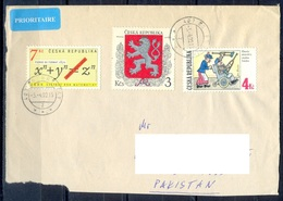 K595- Postal Used Cover. Posted From Czech Republic To Pakistan.  Madecal. Mathematics. - Czech Republic