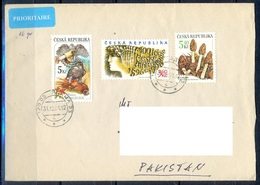 K596- Postal Used Cover. Posted From Czech Republic To Pakistan. Bird. Mushrooms. - Other