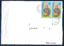 K598- Postal Used Cover. Posted From Czech Republic To Pakistan. Famous People. - Czech Republic