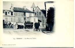 Superbe CPA Précurseur Neuve, Yerres, La Place Du Taillis, Belle Animation, Diligence, Calèche - Yerres