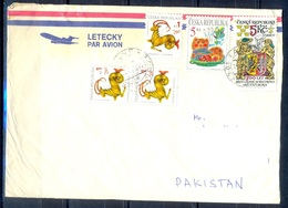 K600- Postal Used Cover. Posted From Czech Republic To Pakistan. - Other