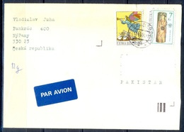 K603- Postal Used Cover. Posted From Czech Republic To Pakistan. Plants. Tree, - Czech Republic