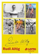 CARTE CYCLISME RUDI ALTIG - Wielrennen