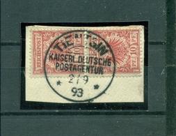 China, Krone/Adler, Vorläufer 47 D Paar Gestempelt - Deutsche Post In China