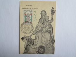 Carte Maximum Premier Jour Notre Dame De La Victoire Lorient - Cartoline Maximum