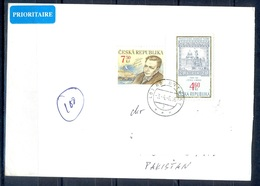 K608- Postal Used Cover. Posted From Czech Republic To Pakistan. Building. - Czech Republic