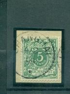 China, Krone/Adler, Vorläufer46 C Briefstück Gestempelt Geprüft BPP - Deutsche Post In China