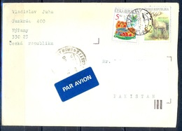 K610- Postal Used Cover. Posted From Czech Republic To Pakistan. Animals. Dear. - Czech Republic