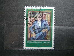 T. Lie # United Nations UN Vienna Austria 1987 Used #Mi. 68 Famous People - Oblitérés