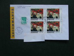 """France 1998 - Bloc De 4 """"Tableau Paul Gauguin""""  Sur Lettre Recommandée - Andere"""