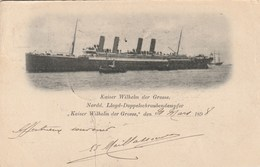 Kaiser Wilhelm Der Grosse 1898 - US German Sea Post - Steamers