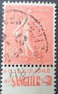 R1934/84 - 1924 - TYPE SEMEUSE LIGNEE - N°199 ☉ BANDE PUBLICITAIRE ☛ FILS A COUDRE AU SANGLIER - Advertising
