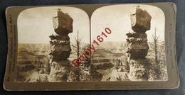 Photo Stéréoscopique. U.S.A.  Merveilleux Monument De La Nature, Sur Les Bords Du Grand Canyon. - Photos Stéréoscopiques