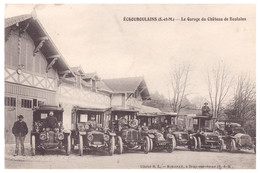 CPA LE GARAGE DU CHATEAU DE BOULAINS ( Seine Et Marne ) - France