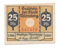 **notgeld  Nurnberg 25 Pfennig N58.2 - [11] Local Banknote Issues